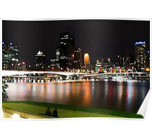 Brisbane CBD at night Poster