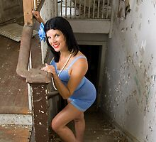 Pin Up in abandonments - Model Kathleen P by DariaGrippo
