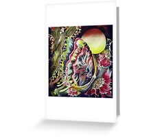 Cotton Batik Painting Butterfly 145 Greeting Card