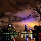 &quot;Yarra River and Melbourne Night Skyline&quot; by Jenna Florescu