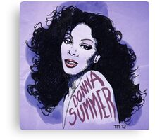 Donna Summer Portrait Sketch Canvas Print