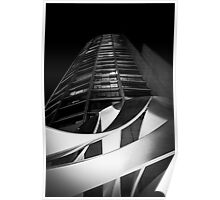 Black & White Melbourne Sculpture and Tower Poster