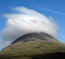 Glamaig with a'Feathery Hat' , Red Cuillins on the Isle of Skye by rosie320d