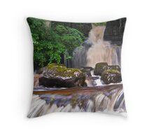 Cliff Beck Falls Throw Pillow
