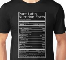 Nutritional Facts! Latin Version 1.0  Unisex T-Shirt