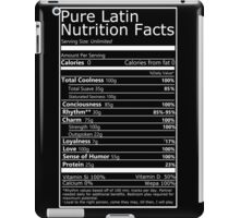 Nutritional Facts! Latin Version 1.0  iPad Case/Skin