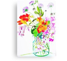 November Flowers Canvas Print