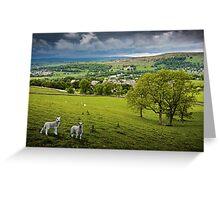 Langcliffe - Yorkshire Dales National Park. UK Greeting Card