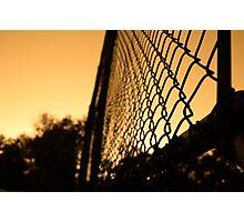 Sunset cage Photographic Print