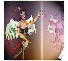 Angel or Devil Pen Drawing Poster