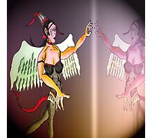Angel or Devil Pen Drawing Photographic Print