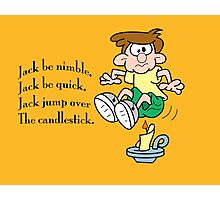 Jack jump over the candlestick Photographic Print