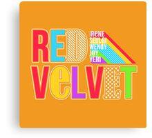 RED VELVET Typography Canvas Print