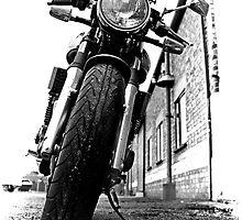 Black and White Motorbike by Karl Horton