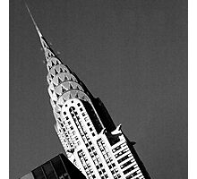 Chrysler Building - black and white Photographic Print