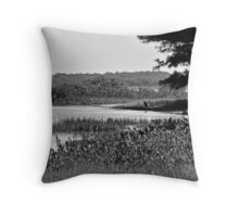 Breat Blue Heron watching and waiting Throw Pillow