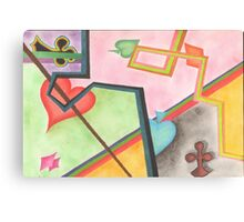 Colorful beautiful shapes for good mood Canvas Print