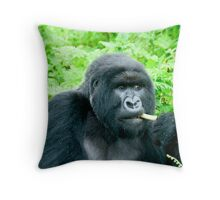 SILVER BACK (THE PRESIDENT) Throw Pillow