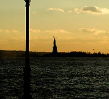 Statue of Liberty - Sunset by Karl Horton