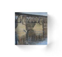 Cayuga Train Bridge Acrylic Block