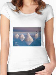 Salt mounds Women's Fitted Scoop T-Shirt