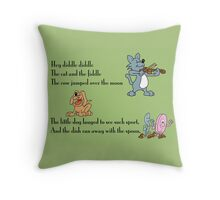 Hey Diddle Diddle Throw Pillow