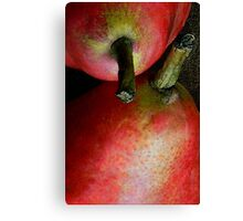 Pair of Pears: Red Canvas Print