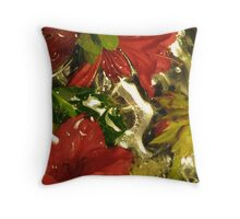 azalea drip Throw Pillow