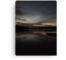 TWILIGHT OVER PIERCE LAKE Canvas Print