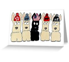Scottie Dogs 'Mom's been knitting again!' Greeting Card