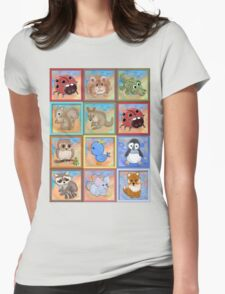 Baby animals 2 Womens Fitted T-Shirt