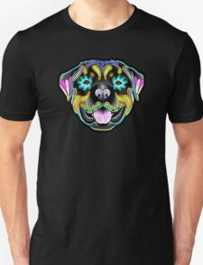 Day of the Dead Rottweiler Sugar Skull Dog T-Shirt