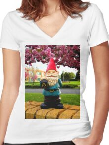 Sakura School Gnome Women's Fitted V-Neck T-Shirt