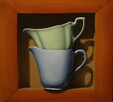 'Trompe l'oeil' Jugs ('fool the eye' in French) by Paul Coventry-Brown