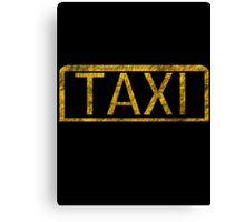 All Hail The Taxi Canvas Print