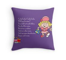 Curly Lock/Goldilocks Throw Pillow
