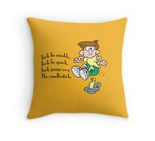 Jack jump over the candlestick Throw Pillow