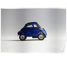 BMW Isetta deep blue Poster