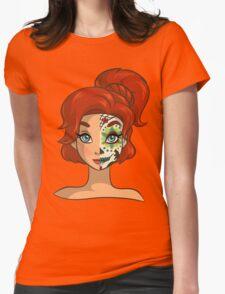 Sugar Skull Series: Russian Princess Womens Fitted T-Shirt