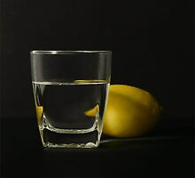 Glass of Water with Lemon by Paul Coventry-Brown