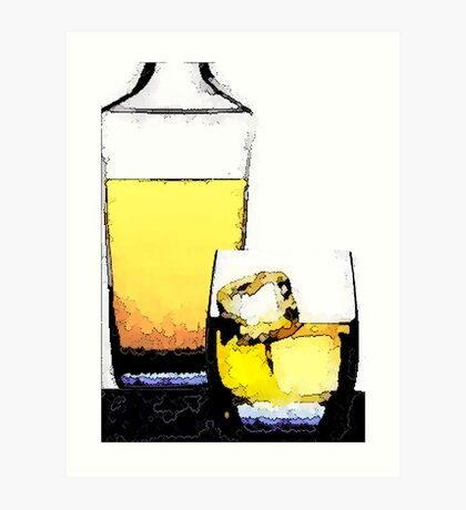 A Glass of Whisky Art Print
