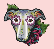 Day of the Dead Whippet / Greyhound Sugar Skull Dog Kids Clothes