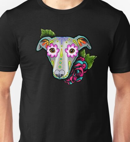 Day of the Dead Whippet / Greyhound Sugar Skull Dog Unisex T-Shirt