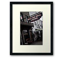 West End Grill Framed Print