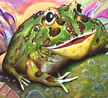 Wide Mouth Frog by Clayt Stahlka
