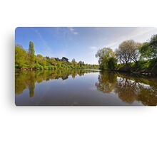 River Severn at Upton on Severn, Worcestershire, UK Canvas Print