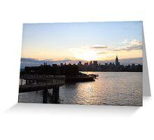 """Pier """"C"""" Hoboken Manhattan in background Greeting Card"""