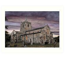 St.Georges Church,Anstey 2 Art Print