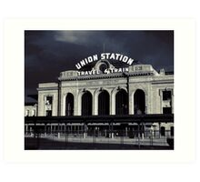 """Union Station"" Denver, CO Art Print"