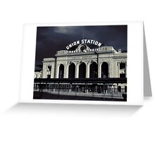 """Union Station"" Denver, CO Greeting Card"